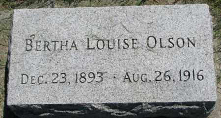 OLSON, BERTHA LOUISE - Clay County, South Dakota | BERTHA LOUISE OLSON - South Dakota Gravestone Photos