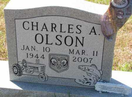 OLSON, CHARLES A. - Clay County, South Dakota   CHARLES A. OLSON - South Dakota Gravestone Photos