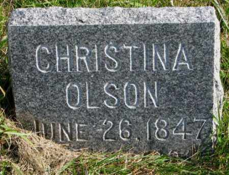 OLSON, CHRISTINA - Clay County, South Dakota | CHRISTINA OLSON - South Dakota Gravestone Photos
