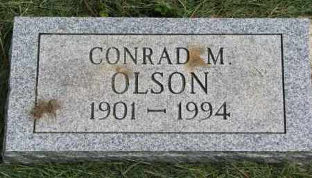 OLSON, CONRAD M. - Clay County, South Dakota   CONRAD M. OLSON - South Dakota Gravestone Photos