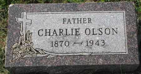 OLSON, CHARLIE - Clay County, South Dakota | CHARLIE OLSON - South Dakota Gravestone Photos