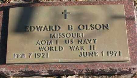 OLSON, EDWARD B. (WW II) - Clay County, South Dakota | EDWARD B. (WW II) OLSON - South Dakota Gravestone Photos
