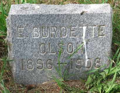 OLSON, E. BURDETTE - Clay County, South Dakota | E. BURDETTE OLSON - South Dakota Gravestone Photos