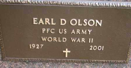 OLSON, EARL D. - Clay County, South Dakota | EARL D. OLSON - South Dakota Gravestone Photos