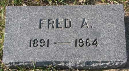 OLSON, FRED A. - Clay County, South Dakota   FRED A. OLSON - South Dakota Gravestone Photos