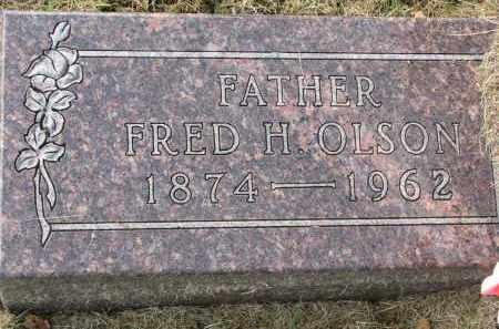 OLSON, FRED H. - Clay County, South Dakota | FRED H. OLSON - South Dakota Gravestone Photos