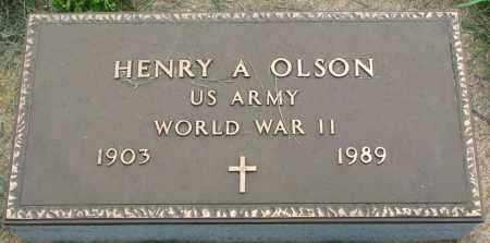 OLSON, HENRY A. (WW II) - Clay County, South Dakota | HENRY A. (WW II) OLSON - South Dakota Gravestone Photos