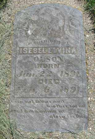 OLSON, ISEBEL ELVINA - Clay County, South Dakota   ISEBEL ELVINA OLSON - South Dakota Gravestone Photos