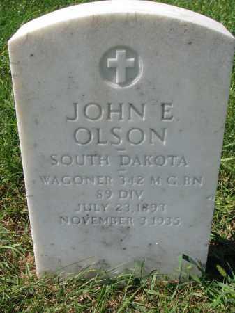 OLSON, JOHN E. - Clay County, South Dakota   JOHN E. OLSON - South Dakota Gravestone Photos