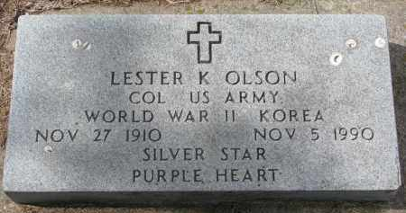 OLSON, LESTER K. - Clay County, South Dakota | LESTER K. OLSON - South Dakota Gravestone Photos