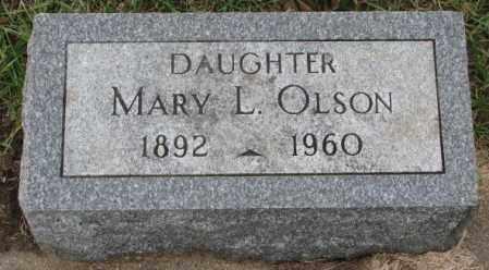 OLSON, MARY L. - Clay County, South Dakota | MARY L. OLSON - South Dakota Gravestone Photos