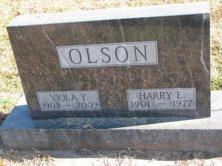 OLSON, HARRY E. - Clay County, South Dakota | HARRY E. OLSON - South Dakota Gravestone Photos