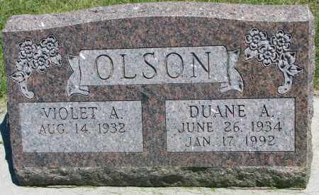 OLSON, VIOLET A. - Clay County, South Dakota | VIOLET A. OLSON - South Dakota Gravestone Photos