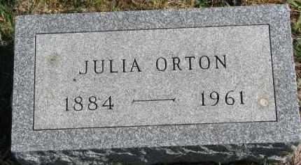 ORTON, JULIA - Clay County, South Dakota | JULIA ORTON - South Dakota Gravestone Photos