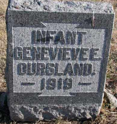 OURSLAND, GENEVIEVE E. - Clay County, South Dakota | GENEVIEVE E. OURSLAND - South Dakota Gravestone Photos