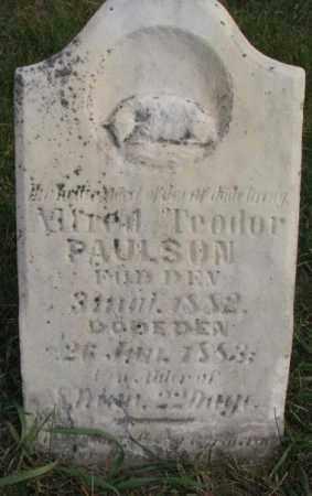 PAULSON, ALFRED TEODOR - Clay County, South Dakota | ALFRED TEODOR PAULSON - South Dakota Gravestone Photos