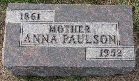 PAULSON, ANNA - Clay County, South Dakota   ANNA PAULSON - South Dakota Gravestone Photos