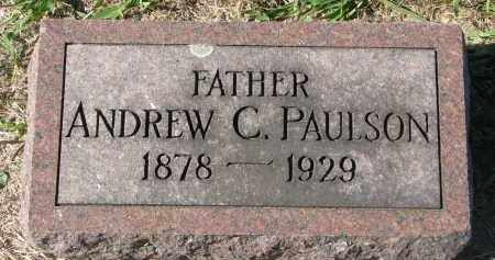 PAULSON, ANDREW C. - Clay County, South Dakota | ANDREW C. PAULSON - South Dakota Gravestone Photos