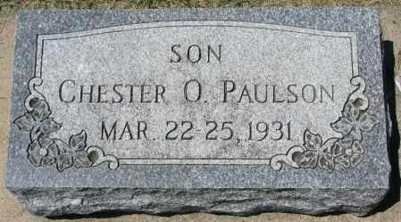 PAULSON, CHESTER O. - Clay County, South Dakota   CHESTER O. PAULSON - South Dakota Gravestone Photos