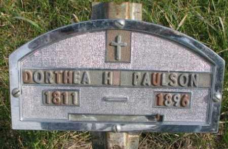 PAULSON, DORTHEA H. - Clay County, South Dakota   DORTHEA H. PAULSON - South Dakota Gravestone Photos
