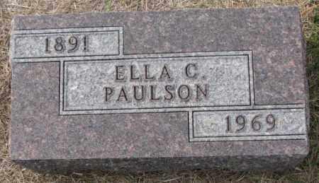 PAULSON, ELLA C. - Clay County, South Dakota | ELLA C. PAULSON - South Dakota Gravestone Photos