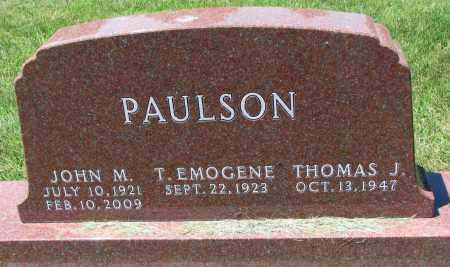 PAULSON, JOHN M. - Clay County, South Dakota | JOHN M. PAULSON - South Dakota Gravestone Photos