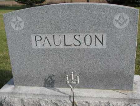 PAULSON, PLOT - Clay County, South Dakota | PLOT PAULSON - South Dakota Gravestone Photos