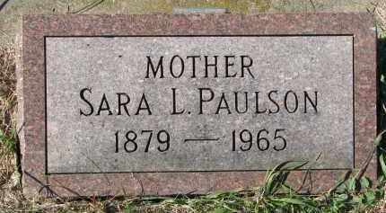 PAULSON, SARA L. - Clay County, South Dakota   SARA L. PAULSON - South Dakota Gravestone Photos
