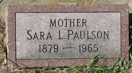 PAULSON, SARA L. - Clay County, South Dakota | SARA L. PAULSON - South Dakota Gravestone Photos