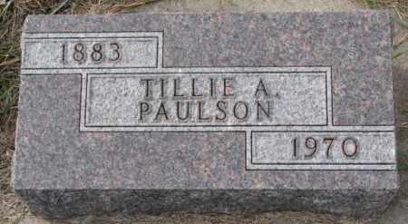 PAULSON, TILLIE A. - Clay County, South Dakota | TILLIE A. PAULSON - South Dakota Gravestone Photos