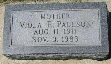 PAULSON, VIOLA E. - Clay County, South Dakota | VIOLA E. PAULSON - South Dakota Gravestone Photos
