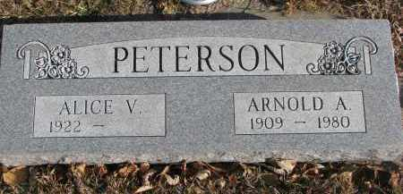 PETERSON, ARNOLD A. - Clay County, South Dakota | ARNOLD A. PETERSON - South Dakota Gravestone Photos