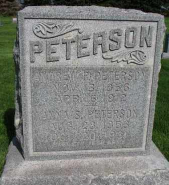 PETERSON, ANDREW P. - Clay County, South Dakota | ANDREW P. PETERSON - South Dakota Gravestone Photos