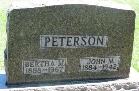 PETERSON, JOHN M. - Clay County, South Dakota | JOHN M. PETERSON - South Dakota Gravestone Photos