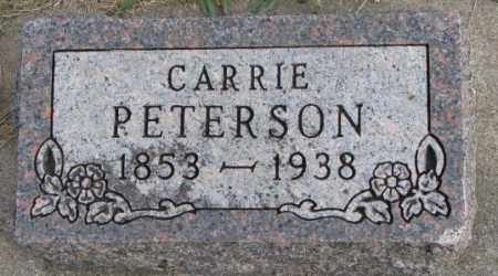PETERSON, CARRIE - Clay County, South Dakota   CARRIE PETERSON - South Dakota Gravestone Photos