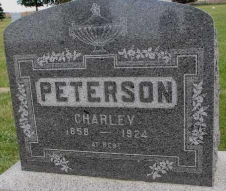 PETERSON, CHARLEY - Clay County, South Dakota   CHARLEY PETERSON - South Dakota Gravestone Photos