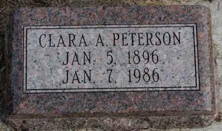 PETERSON, CLARA A. - Clay County, South Dakota | CLARA A. PETERSON - South Dakota Gravestone Photos