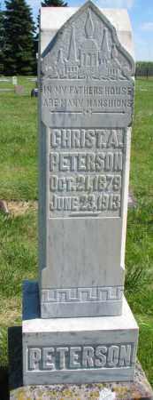 PETERSON, CHRIST A. - Clay County, South Dakota | CHRIST A. PETERSON - South Dakota Gravestone Photos