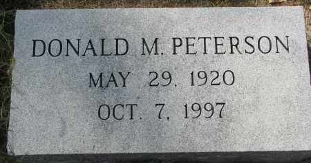 PETERSON, DONALD M. - Clay County, South Dakota | DONALD M. PETERSON - South Dakota Gravestone Photos