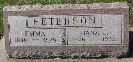 PETERSON, EMMA - Clay County, South Dakota | EMMA PETERSON - South Dakota Gravestone Photos
