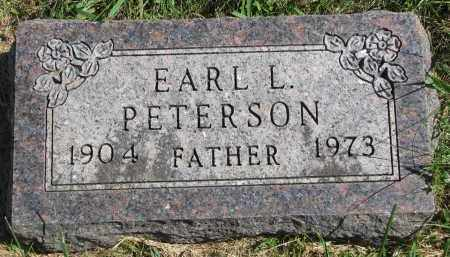 PETERSON, EARL L. - Clay County, South Dakota   EARL L. PETERSON - South Dakota Gravestone Photos