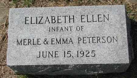 PETERSON, ELIZABETH ELLEN - Clay County, South Dakota | ELIZABETH ELLEN PETERSON - South Dakota Gravestone Photos
