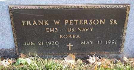 PETERSON, FRANK W. SR. (MILITARY) - Clay County, South Dakota   FRANK W. SR. (MILITARY) PETERSON - South Dakota Gravestone Photos