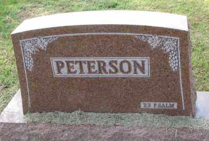 PETERSON, FAMILY STONE - Clay County, South Dakota | FAMILY STONE PETERSON - South Dakota Gravestone Photos
