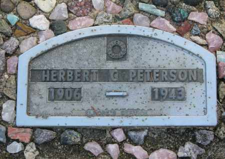 PETERSON, HERBERT (CLOSEUP) - Clay County, South Dakota | HERBERT (CLOSEUP) PETERSON - South Dakota Gravestone Photos
