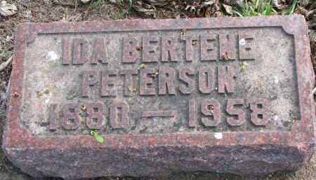 PETERSON, IDA BERTENE - Clay County, South Dakota   IDA BERTENE PETERSON - South Dakota Gravestone Photos