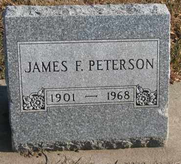 PETERSON, JAMES F. - Clay County, South Dakota | JAMES F. PETERSON - South Dakota Gravestone Photos