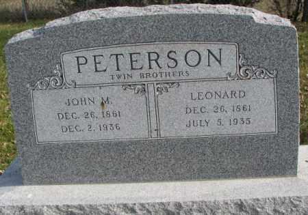 PETERSON, LEONARD - Clay County, South Dakota | LEONARD PETERSON - South Dakota Gravestone Photos