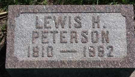 PETERSON, LEWIS H. - Clay County, South Dakota | LEWIS H. PETERSON - South Dakota Gravestone Photos