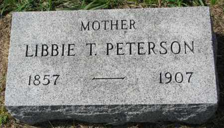 PETERSON, LIBBIE T. - Clay County, South Dakota | LIBBIE T. PETERSON - South Dakota Gravestone Photos